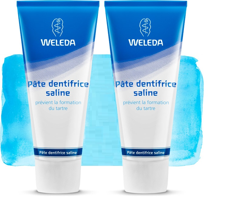 2 Weleda Dentífrico natural Salino (Made in Germany)
