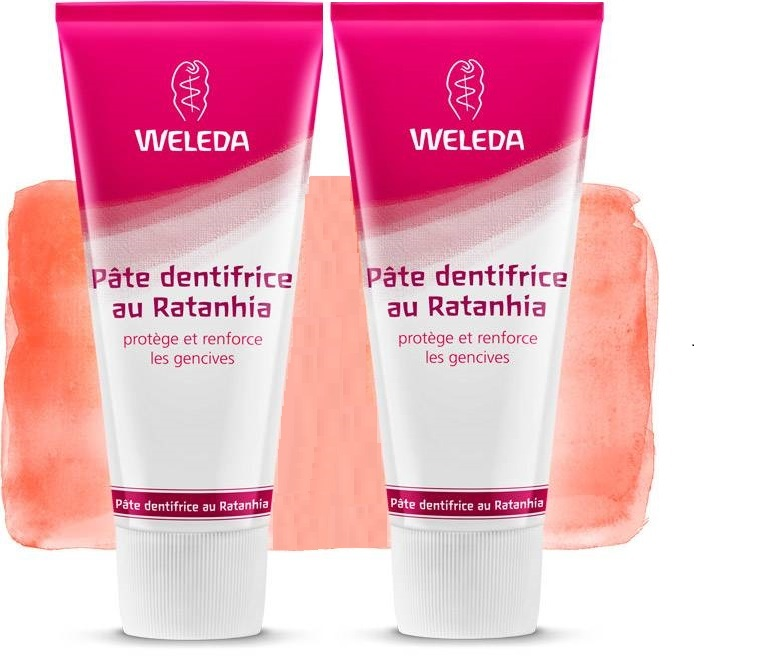 2 Weleda Dentífrico natural Ratania (Made in Germany)