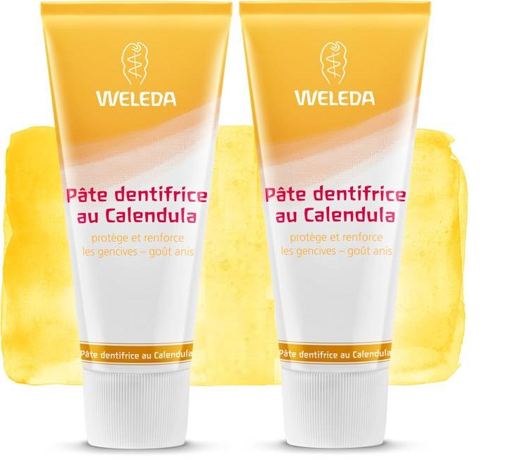 2 Weleda Dentífrico natural con Caléndula (Made in Germany)