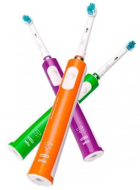 Oral-B Cepillo Eléctrico 500 Colour Edition (verde   naranja   morado). desc c0069a07912d