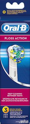 3 cabezales Oral-B Floss action EB25